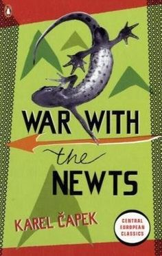War with the Newts (Penguin Translated Texts) by Karel Capek, http://www.amazon.co.uk/dp/0141192704/ref=cm_sw_r_pi_dp_Nn9vrb1FM8DNV