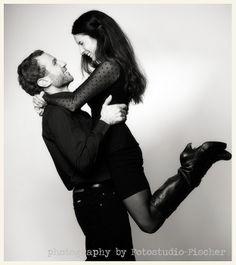 #Paarfotografie in schwarzweiß im #Fotostudio