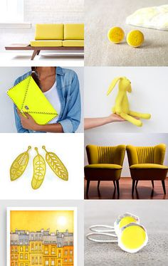 even more YELLOW by Antje Henke on Etsy--Pinned with TreasuryPin.com Yellow, Etsy
