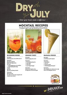It is estimated that anywhere between 1.9 - 5.8% of all new cancers each year in Australia are attributable to long-term, chronic use of alcohol. The National Health and Medical Research Council recommends no more than two standard alcoholic drinks a day.   These delicious mocktail recipes are a fun and healthy alternative to alcohol. #healthy #mocktails