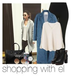 """""""shopping with el"""" by awk0cass ❤ liked on Polyvore featuring Topshop, Sandy Liang, Paul & Joe, MANGO and Victoria Beckham"""