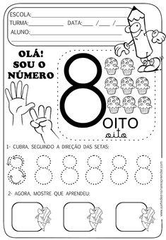 Kids Math Worksheets, Free Printable Worksheets, Numbers Preschool, Preschool Kindergarten, Number Sense Activities, Preschool Activities, Printing Practice, Handwriting Practice, Writing Numbers