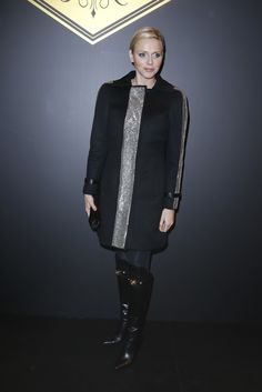 January 12, 2013 - Princess Charlene in Paris for the Versace show
