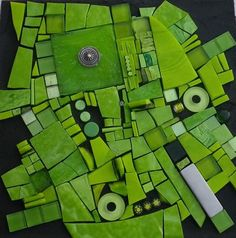 .This mosaic would make a really pretty quilt