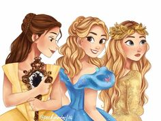"""""""// I saw @theycallmeobsessed's edit of Belle, Cinderella and Aurora (live action) and I thought…"""""""