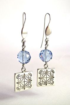INDIGO  SQUARE  TALAVERA by Veronica Romerol, via Behance #silver #sterling #jewelry #designer #earrings #crystal
