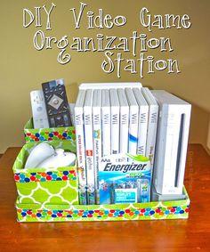 DIY Video Game Organization Station #BringingInnovation AD #recycle