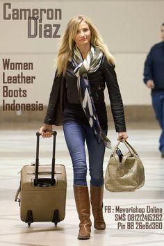 Sepatu Boots Kulit Wanita Indonesia -- Facebook : Mayorishop Online. SMS +6281212415282. Blackberry Pin 26e6d360.