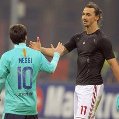 Zlatan and Messi