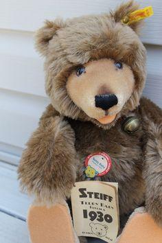 Steiff Teddy Bear Vintage 1930's Replica Bear by OldFangledFinds, $150.00