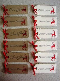 Christmas Bookmarks / Tags by stamp my day - Cards and Paper Crafts at Splitcoaststampers Christmas Gift Tags, Christmas Wrapping, All Things Christmas, Chrismas Cards, Stampin Up Christmas, Mix Media, Advent, Handmade Gift Tags, Christmas Printables