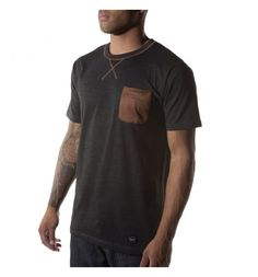 Orisue Bruno 112 Knit T-Shirt in Charcoal $38.00