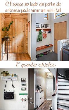 Um cantinho perto da porta de entrada pode ser o seu mini hall! #cantinhos #simplesdecoracao