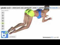 ▶ Glutei sodi ed alti: esercizi per rassodare i glutei - YouTube