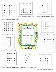 Ta-Dah! GeoBoard It! Math Station Pack and a Freebie!! - First Grade Blue Skies