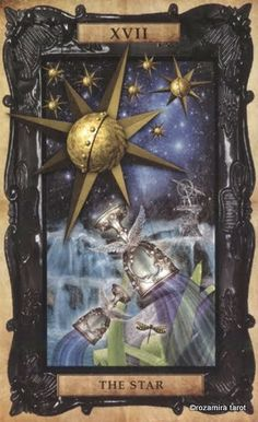 XVI. The Star - Victorian Steampunk Tarot by Liz Dean, Beverley Speight