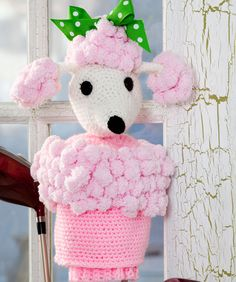 free downloadable pattern - would be cuter as a puppet but they call it a Poodle Golf Club Cover