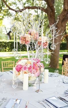 Get inspired: A sweet, swoon-worthy outdoors tablescape, perfect for a spring wedding! via @MODwedding