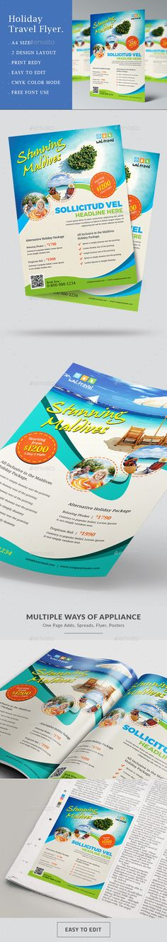 Travel & Tourism Flyer Template Ai Illustrator | Flyer Templates