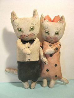 cat art dolls , sand