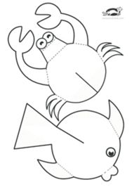 children activities, more than 2000 coloring pages Ocean Crafts, Fish Crafts, Diy And Crafts, Arts And Crafts, Paper Crafts, Diy For Kids, Crafts For Kids, Sea Theme, Ocean Themes