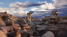 Desert wasteland. Goblin Valley, Utah?