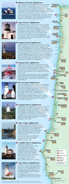 Oregon coast lighthouses, by the Oregon Parks and Recreation Department