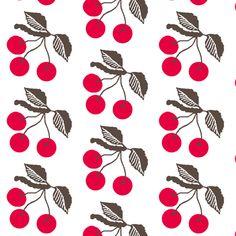 Retro cherries  fabric by paragonstudios on Spoonflower - custom fabric