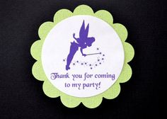 Tinkerbell Fairy Favor Tags 12 by TinkerNookCreations on Etsy, $8.00