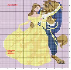 Beauty and the Beast Cross Stitch Pattern