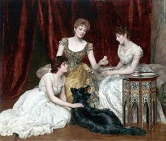 The Athenaeum - The Three Daughters of William Reed (John Maler Collier - )