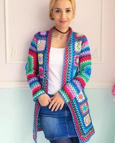 Wonderful and Cool Crochet Cardigan Sweet Patterns and Ideas Part crochet cardigan pattern; crochet cardigan with hood; crochet cardigan plus size; Crochet Bracelet Pattern, Crochet Cardigan Pattern, Granny Square Crochet Pattern, Easy Crochet Patterns, Tutorial Crochet, Granny Square Sweater, Hippie Crochet, Diy Crafts Crochet, Crochet Poncho