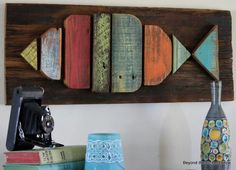 """Fish art. <3<3 our pins? """"LIKE"""" us at: https://www.facebook.com/bound4burlingame to get camping tips, recipe ideas, DIYs, outdoor ideas and sensational finds on your newsfeed."""
