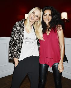 Anne Vyalitsyna and Shanina Shaik for Gina Tricot. Christmas Party, november 2014.