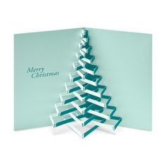 Modern Tree Holiday Cards - Set of 8 in color Greeting Card Size, Account History, 3d Cards, Museum Of Modern Art, White Envelopes, Card Sizes, Holiday Cards, Merry Christmas, Art Pieces