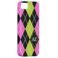 I can get a lot of inspiration from this iPhone case because it is very feminine. The colors contrast very well together. While red and green are the typical complementary colors, their lighter shades work well together too. The argyle pattern would also attract many girls between the ages of 18 and 21 because it is very popular. The initials on one of the shapes would also be a selling point because it would be a personalized case for each buyer.  Source-zazzle.com