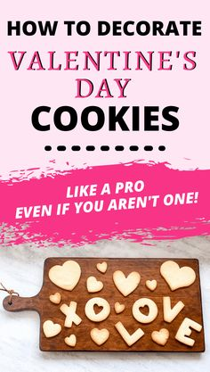 Decorating cookies is the perfect Valentine's Day activity for families, friends, or couples! Check out my tips for how to make and decorate Valentine's Day cookies like a pro, even if you aren't one! Valentines Day Holiday, Valentine Day Boxes, Valentines Day Cookies, Valentines Day Activities, Valentines Day Decorations, Valentines For Kids, Plain Cookies, Cut Out Cookies, Cute Cookies