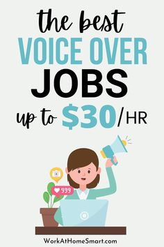 Looking for the best voice over work online? If so, make sure to grab this list of companies with voice over jobs for beginners and pros. Legit Work From Home, Legitimate Work From Home, Work From Home Jobs, Work From Home Companies, Earn Money Online, Online Work, Saving Money, The Voice, Good Things