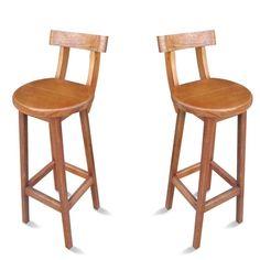 Banqueta Alta De Madeira Com Encosto Banco - Shoptime Folding Furniture, Wooden Furniture, Mesa Retro, Wooden Stools, Interior And Exterior, Bar Stools, Sweet Home, Woodworking, Chair