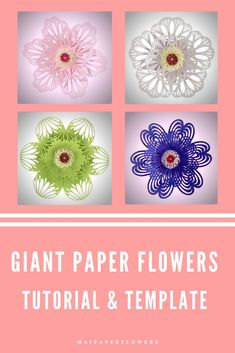 With this paper flower template set, you can create 4 large paper flowers with the charming flower center as in the picture at saving cost! #paperflowertemplate #paperflowertemplatesvg #paperfowercricut #paperflowersvg #flowertemplatesvg #paperflowertutorial #largepaperflowers #paperflowersdiy #easypaperflowers #paperflowerscraft Large Paper Flower Template, Paper Flower Tutorial, Easy Paper Flowers, Paper Flower Backdrop, Flower Svg, Flower Crafts, Giant Paper Flowers, Printable Templates, Flower Center