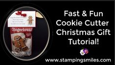Do you love the idea of giving handmade Christmas gifts but are short on time to make them? Watch my fast & fun Stampin' Up! Cookie Cutter Christmas gift tutorial video for a gift idea for friends with a good sense of humor. Click on the link for the project measurements and my Gingerbread Men poem pdf http://www.stampinsmiles.com/2016/11/fast-fun-cookie-cutter-christmas-gift-tutorial-video.html  #stampinupcookiecutterchristmasideas #stampingupcookiecutterchristmas #funnychristmasgiftideas