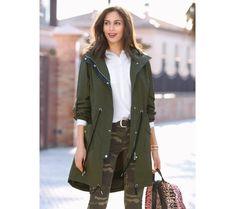 Parka na zip, s kapucí | modino.cz #modino_style #style #fashion #vanoce #darek #prodceru Military Jacket, Zip, Model, Jackets, Products, Fashion, Cowls, Silhouettes, Zippers