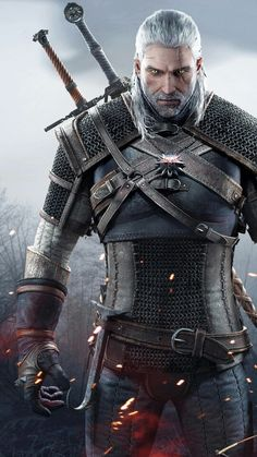 Geralt is gorgeous, but I don't like the waist on that armor.  It looks like a corset.  :P