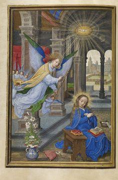 Illuminated Manuscripts: The Annunciation, Simon Bening, Flemish, Bruges, c. 1530s