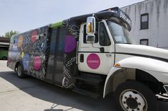 Brooklyn public library bus wraps - Car wraps NYC #design #carwrap #bus #wrap Large Format Printing, Car Wrap, Brooklyn, Wraps, Public, Nyc, City, Prints, Design