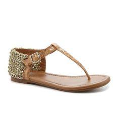 Gianni Bini Sunshine Lacquered Cork Sandals | Dillards.com