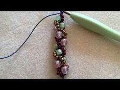 パールネックレスの編み方 作り方 ビーズステッチ スパイラルロープ DIY - YouTube