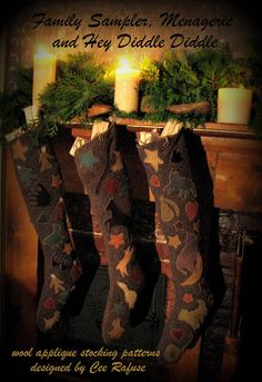 Collection of 3 Stockings designed by Cee Rafuse