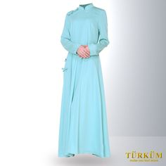 A simple sky blue Abaya dress that combines both the serenity of Islam and a classic design that will definitely command respect from the people who see it.  Available in various sizes, it will definitely fit every Middle Eastern woman out there.
