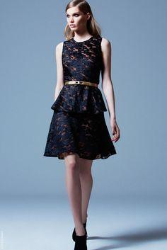 elie saab pre fall 2013 peplum lace dress